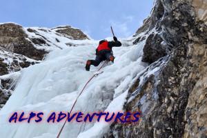 Ice climbing in Mount Prisank, Julian Alps